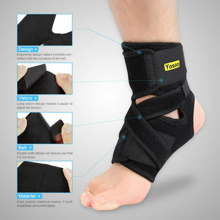 Heel Lock Ankle Support - HAOFY Ankle Compression FOOT ANGEL Sleeve Arch Heel Pain Relief Support Ankle Support Foot Support Protector and Stabilizer