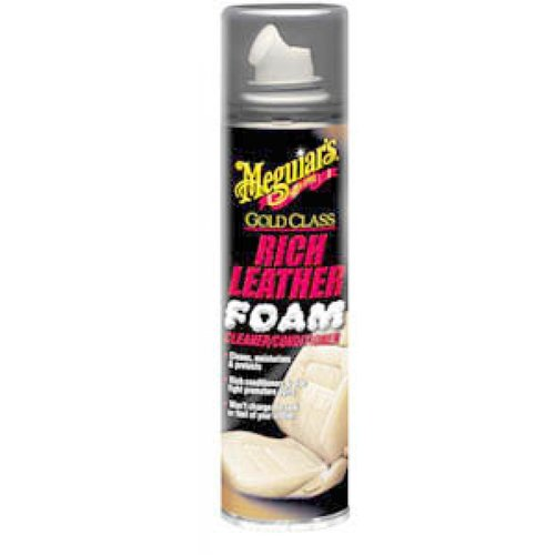 Meguiars G11210 10 Oz Gold Class Rich Leather Foam Cleaner and Conditioner