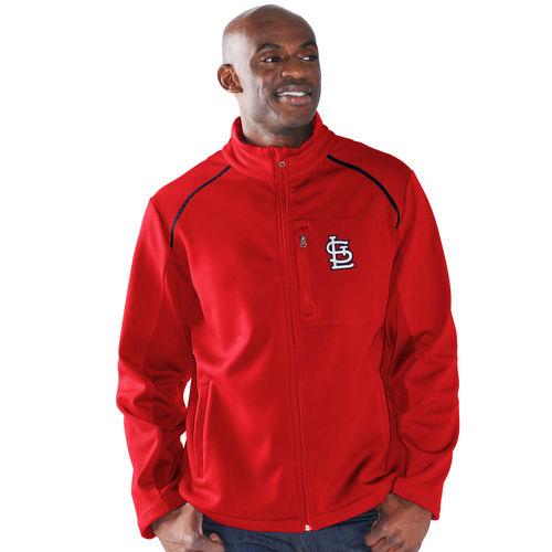 Men's G-III Sports by Carl Banks Red St. Louis Cardinals Rebound Full-Zip Fleece Jacket by