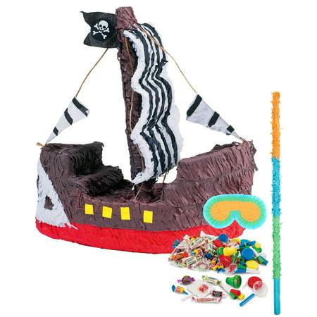 Pirate Ship Pinata Kit - Pirate Pinatas