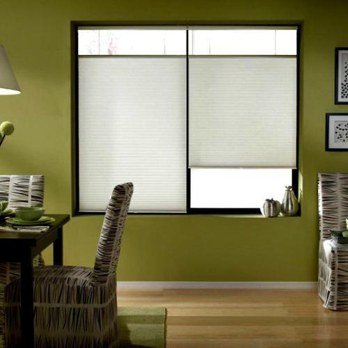 Cool White 23 to 23.5-inch Wide Cordless Top Down Bottom Up Cellular Shades 23W x 54H Cool White