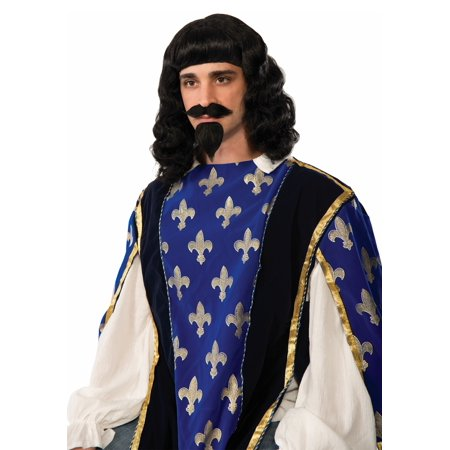 Forum Novelties FRM-75127-C Musketeer Wig, Moustache, Goatee Costume Accessory Adult Men (Musketeer Costume Men)