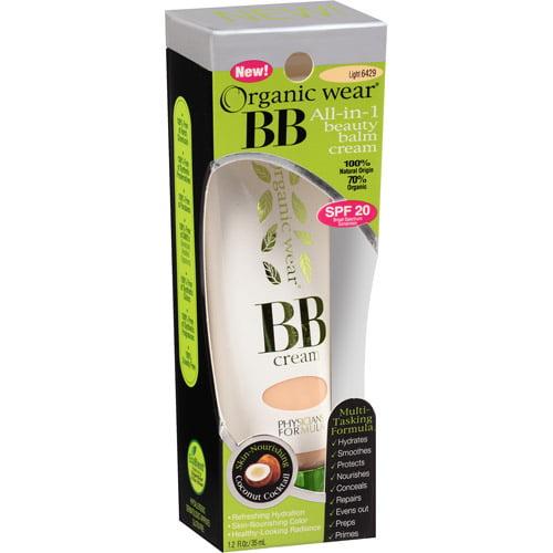 Physicians Formula Organic Wear BB All-in-1 Beauty Balm Cream, 6429 Light, 1.2 fl oz