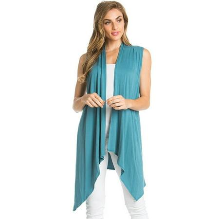Azules Women's Sleeveless Duster - Raglan Cardigan Pattern