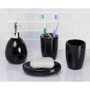 Home Basics 4-Piece Black Bathroom Accessory Set