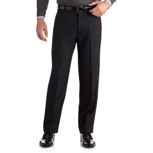 George Men's Subtle Stripe Flat Front Dress Pant