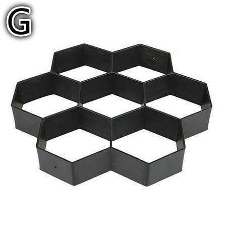 Siaonvr Gardening 8/9 Grids Pathmate Stone Mold Paving Concrete Stepping Pavement Paver (Decorative Concrete Molds)