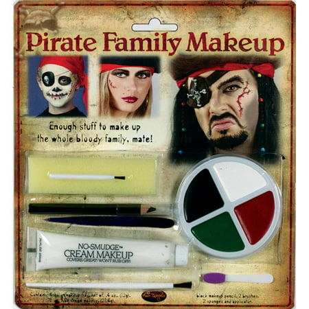 Pirate Family Makeup Kit Halloween Accessory - Cool Easy Halloween Makeup Ideas