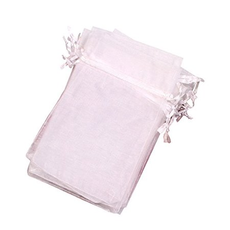 "MBOX Colorful 4x6"" Organza Drawstring Pouch Bag 100pcs (Snow White) - image 1 of 1"