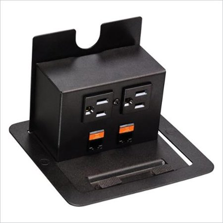 Flexsteel Accessories Conference Table Data Power Center-Black