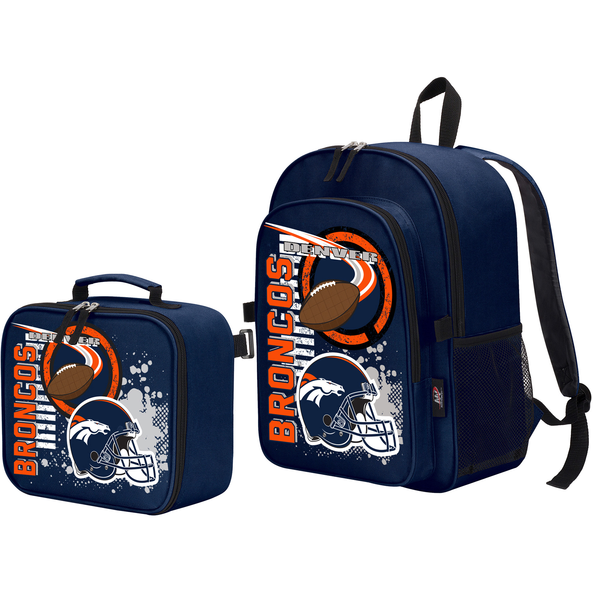 The Northwest Company Denver Broncos Accelerator Backpack & Lunchbox - No Size