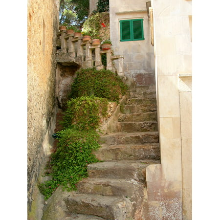 Canvas Print Majorca Stone Mallorca Stairs Mediterranean Old Stretched Canvas 10 x 14