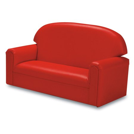 Red Upholstered Sofa (Brand New World Vinyl Upholstered Toddler)