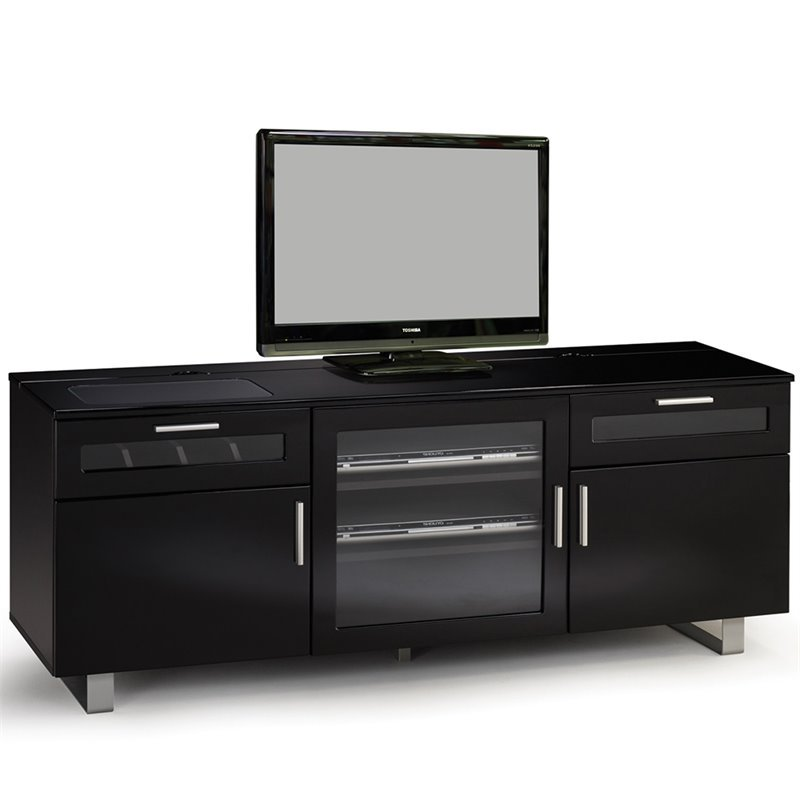 Bowery Hill 60 Tv Stand In Black And