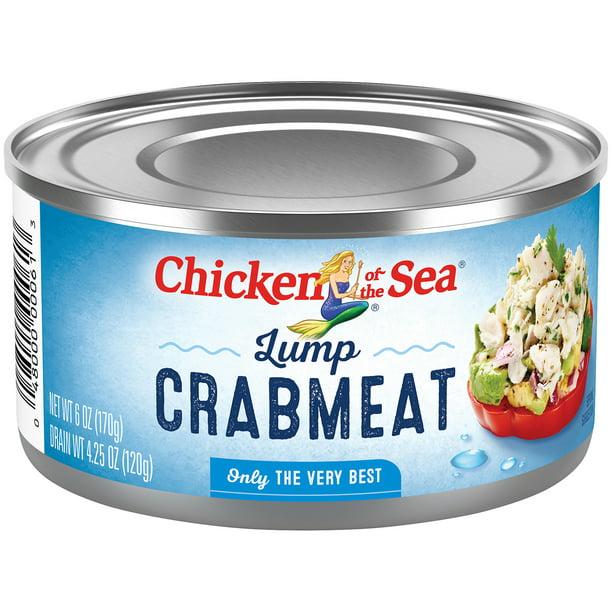Chicken Of The Sea Lump Crabmeat Canned 6 Oz Walmart Com Walmart Com