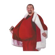 Red Padded Santa Belly Adult Christmas Costume Accessory - One Size