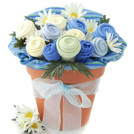 Nikki's Blue Baby Blossom Clothing Gift Bouquet