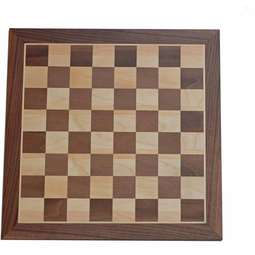 "Click here to buy Classic Walnut Chess Board, 14.75"" by Generic."