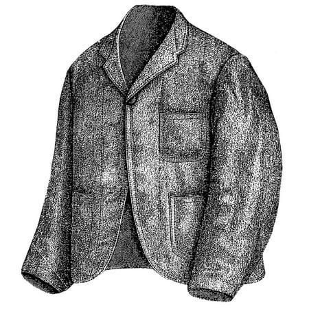 Sewing Pattern: 1870 Gray Smoking Jacket Pattern (Smoking Jacket For Sale)