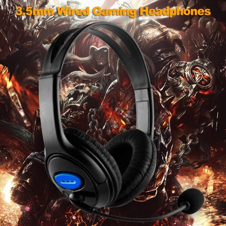 3.5mm Wired Gaming Headphones Over Ear Game Headset Stereo Bass Earphone with Microphone Volume Control for PC Laptop PS4 Smart Phone - image 3 de 6