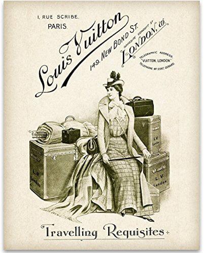 Louis Vuitton Travelling Requisites Art Print 11x14 Unframed Art