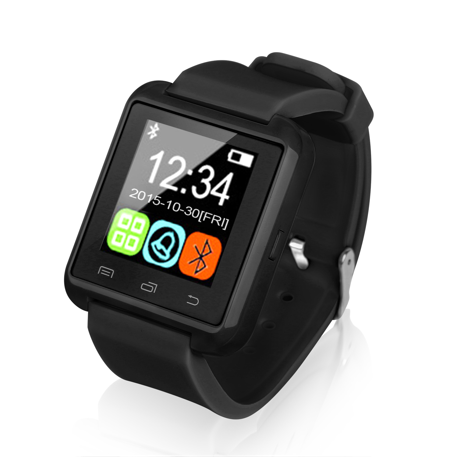 GPCT Android Smart Watch - Bluetooth, Touch Screen - Black