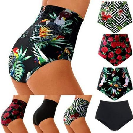 Womens High Waist Swimsuit Bikini Bottoms Tankini Bottom Swim Shorts Plus Size