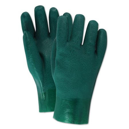 Pvc Gauntlet - Magid MultiMaster Fine Sand Finish PVC 10 inch Gauntlet Gloves, 12 Pairs