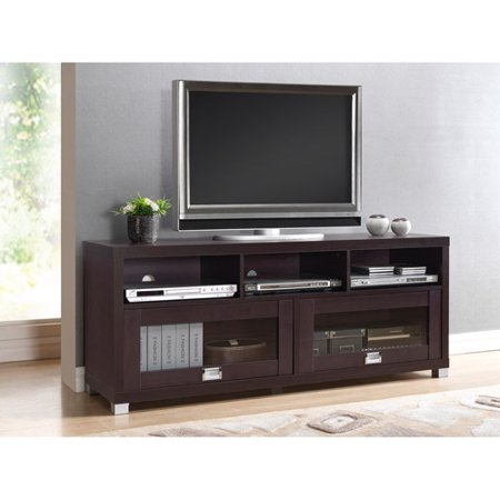 Techni Mobili Durbin TV Cabinet for TVs up to 65″, Espresso