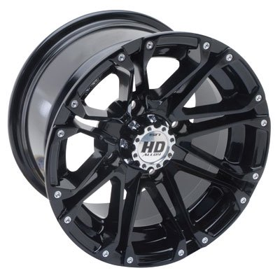 4/137 STI HD3 Alloy Wheel 12x7 5.0 + 2.0 Gloss Black for Can-Am Outlander Max 650 H.O. 2007
