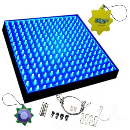 Hqrp 14W 225 Blue Led Grow Light Panel For Growing Flowers Bonsai  Orchids  Saffrons  Hibiscus   Hqrp Hanging Kit And Hqrp Uv Meter