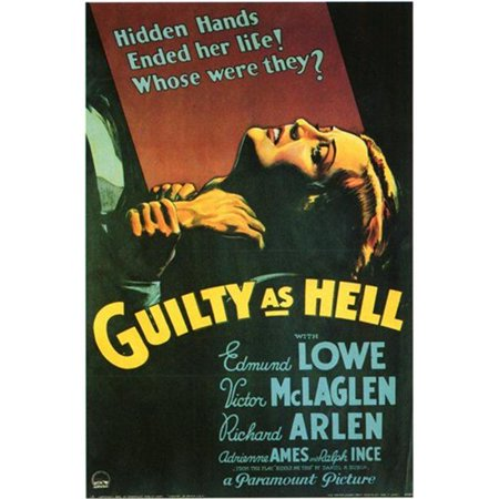 Posterazzi MOV198472 Guilty As Hell Movie Poster - 11 x 17 in.