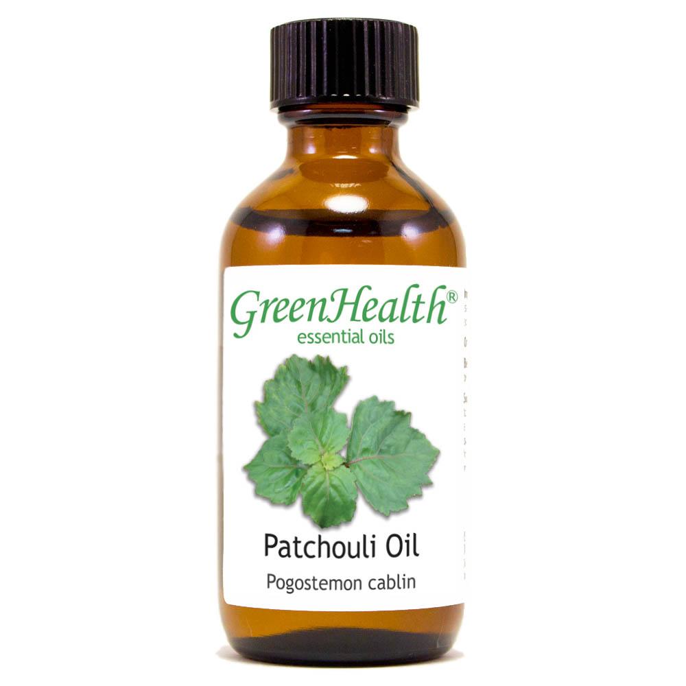 Patchouli Essential Oil - 2 fl oz (59 ml) Glass Bottle w/ Cap - 100% Pure Essential Oil by GreenHealth