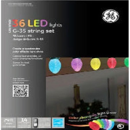 Set Of 36 Color Changing Led Christmas Lights With Function Box And Memory Lock
