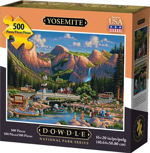 Dowdle Jigsaw Puzzle - Yosemite National Park - 500 (500 Piece Map)