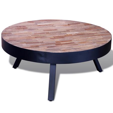 Reclaimed Teak Wall - vidaXL Coffee Table Round Reclaimed Teak
