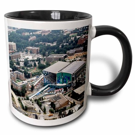 3dRose Summer Olympics Georgia Tech Aquatic Center 1996 - Two Tone Black Mug, (Aquatic Center)