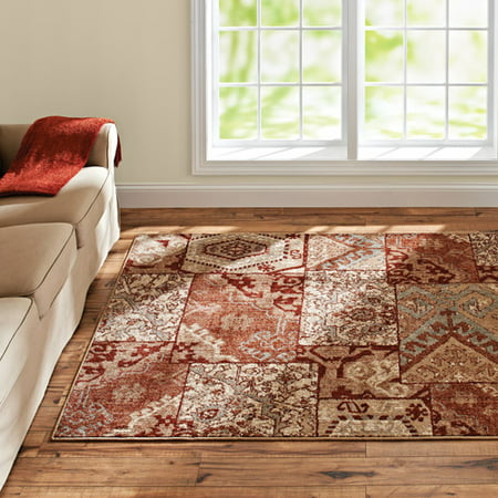 Better Homes And Gardens Global Patchwork Olefin Area Rug
