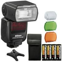 Nikon SB-5000 Speedlight AF Shoe Mount Flash + Extra Batteries For Nikon Cameras