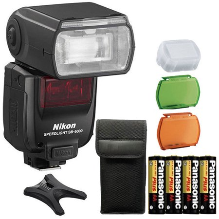 Nikon SB-5000 Speedlight AF Shoe Mount Flash + Extra Batteries For Nikon Cameras Mounts Extra Cameras
