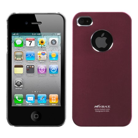 For iPhone 4s/4 Red Cosmo Hard Back Protector Cover -