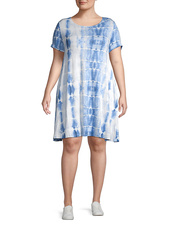 Plus Tie-Dye Shift Dress