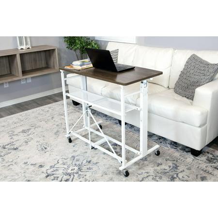 Up2u Folding Height Adjustable Desk Craft Table Walmart Com