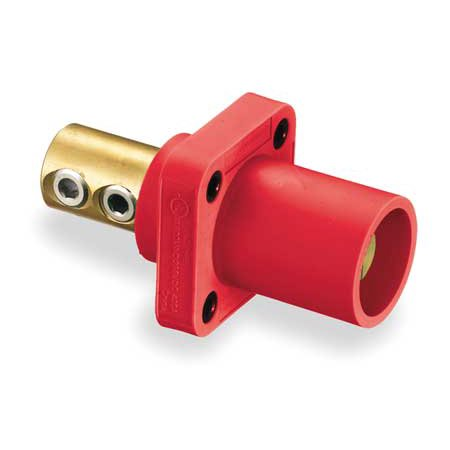 Receptacle Set (HUBBELL WIRING DEVICE-KELLEMS HBLMRR Receptacle,Double Set Screw,Red)