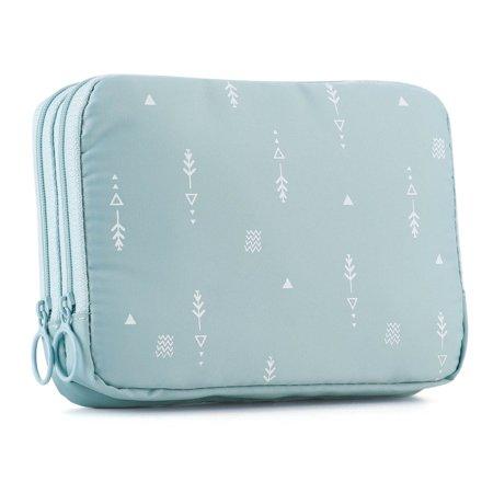 Ladies Passport Wallet (Multifuntion Double Zipper Travel Document Organizer Case Waterproof Passport Holder Wallet for Women Girls and Family )