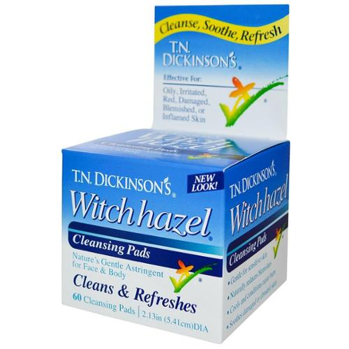 T.N. Dickinson's Witch Hazel Cleansing Pads, Clean & Refreshes 60 ea (Pack of 2)