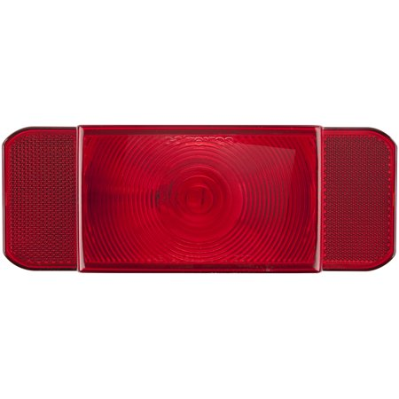 Optronics RVSTB60P Trailer Light RVST60 SERIES Stop/Turn/Tail Light; Incandescent Bulb; Rectangular; Red; 8.6 Inch Length x 4.6 Inch Width x 2.06 Inch Depth; With Black Base; Poly Pack - image 1 de 1