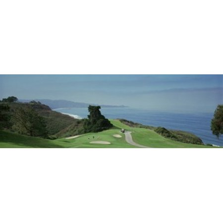 Golf course at the coast Torrey Pines Golf Course San Diego California USA Canvas Art - Panoramic Images (36 x (Torrey Pines Golf Course La Jolla Ca)