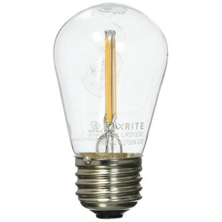 24 Degree Beam Spread - Luxrite LR21232 LED Filament S14 Light Bulb, 1.5-Watt Equivalent To 20w Incandescent S14 Bulb, Warm White 150 Lumens 2700K, 260 Beam spread degree, 15,000 Hour Life, E26 Base, 1-Pack