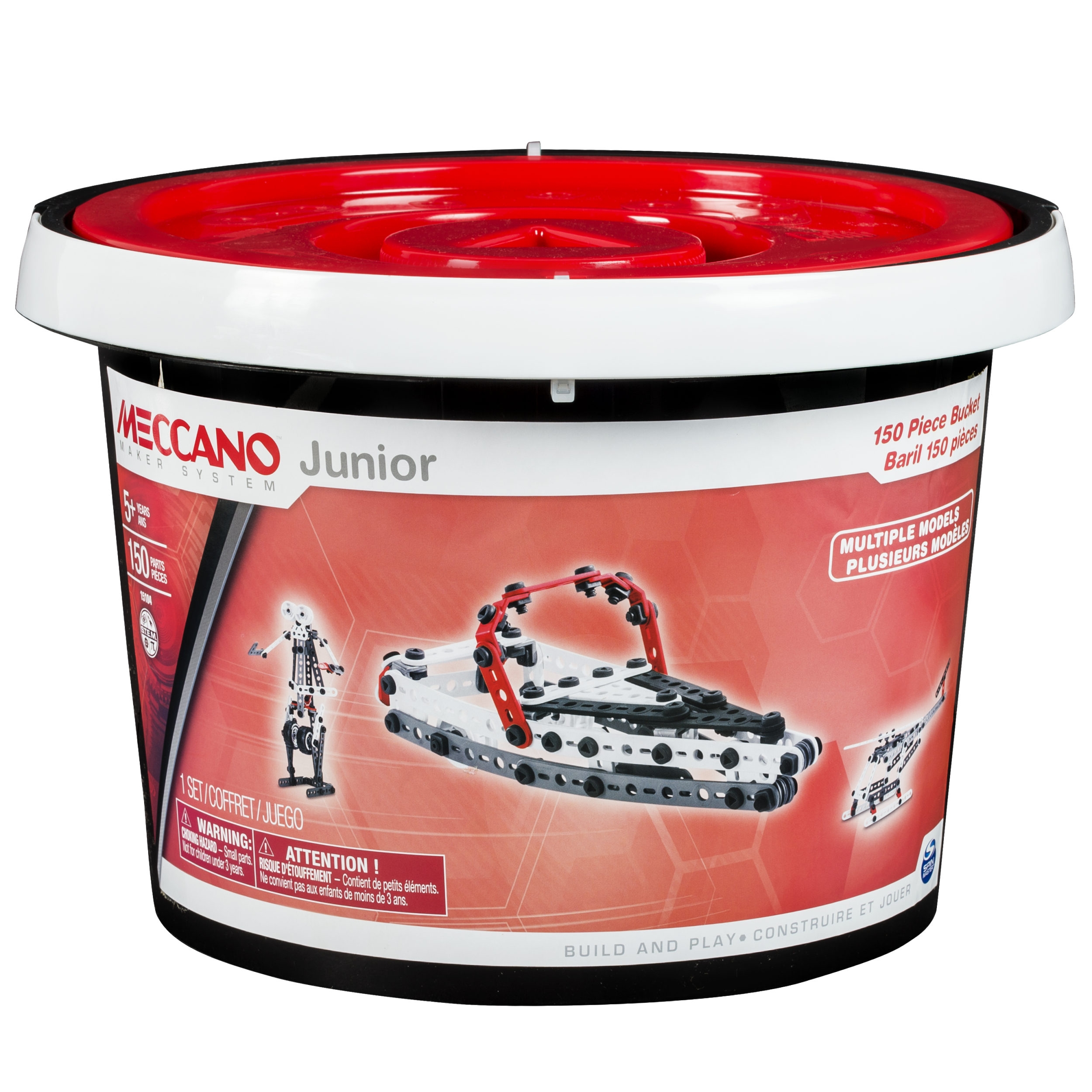 Meccano by Erector Junior 150 Piece Bucket
